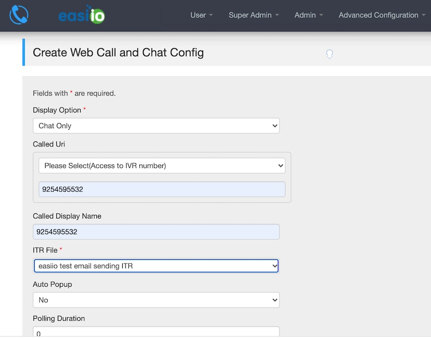 Configure call and web chat with the ITR script