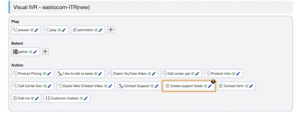 Easiio web chat ITR integration step 1.