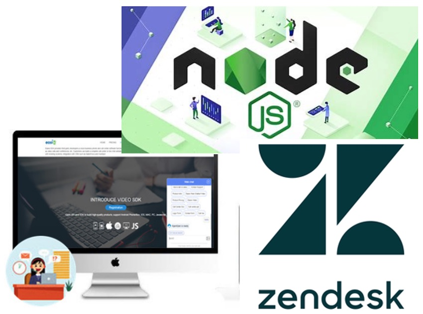 Zendesk ticket integration with Easiio Web chat